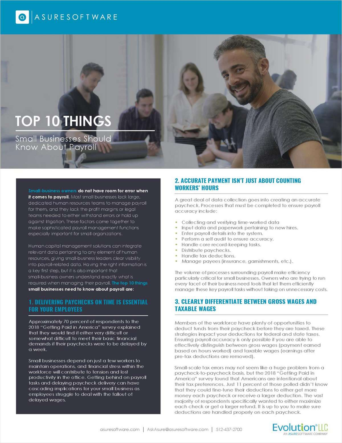 Top 10 Things Small Businesses Should Know About Payroll