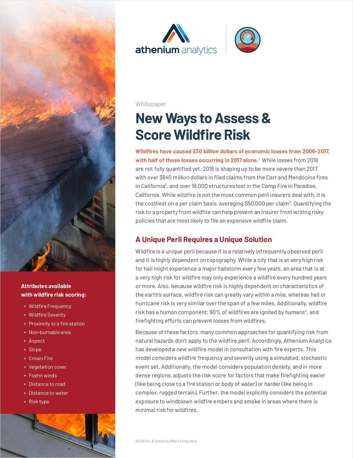 New Ways to Assess & Score Wildfire Risk