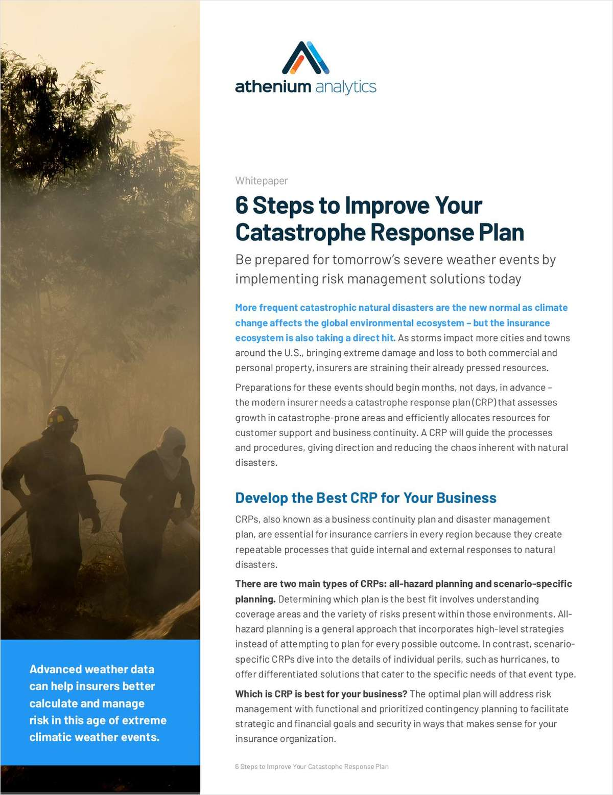 6 Steps to Improve Your Catastrophe Response Plan