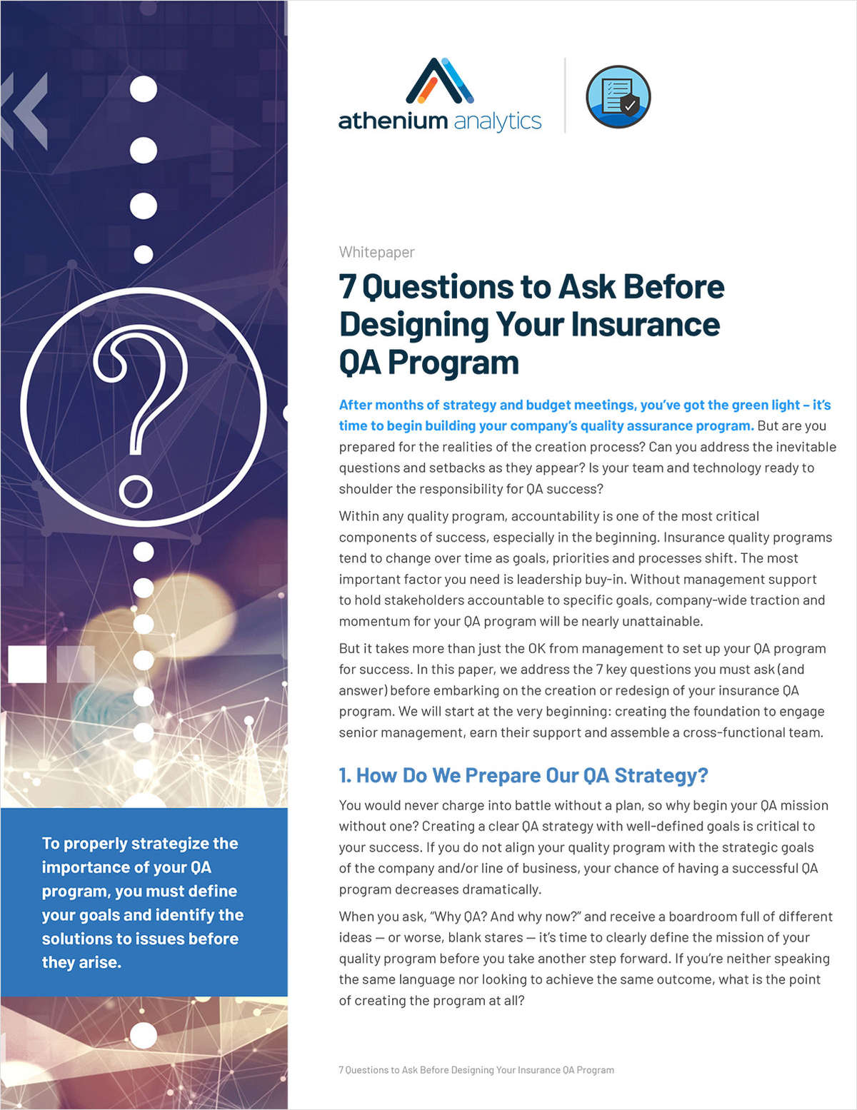 7 Questions to Ask Before Designing Your Insurance QA Program