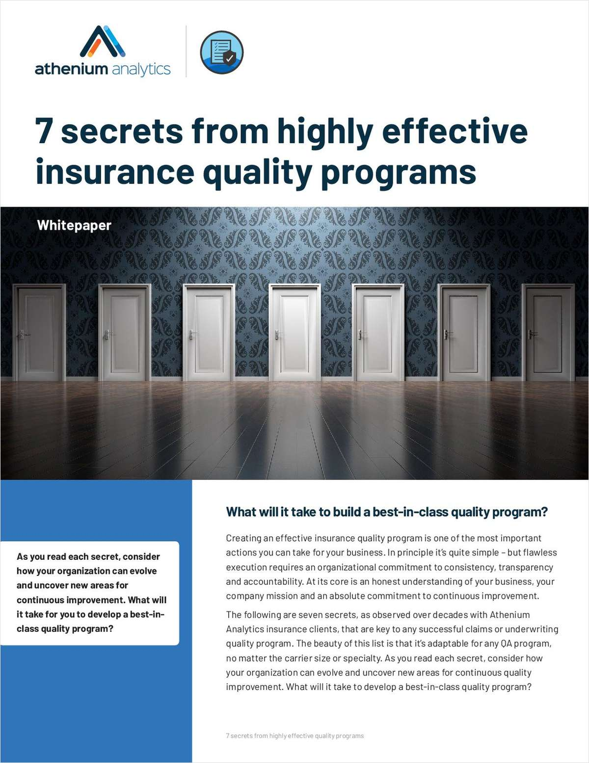 7 Secrets from Highly Effective Insurance Quality Programs