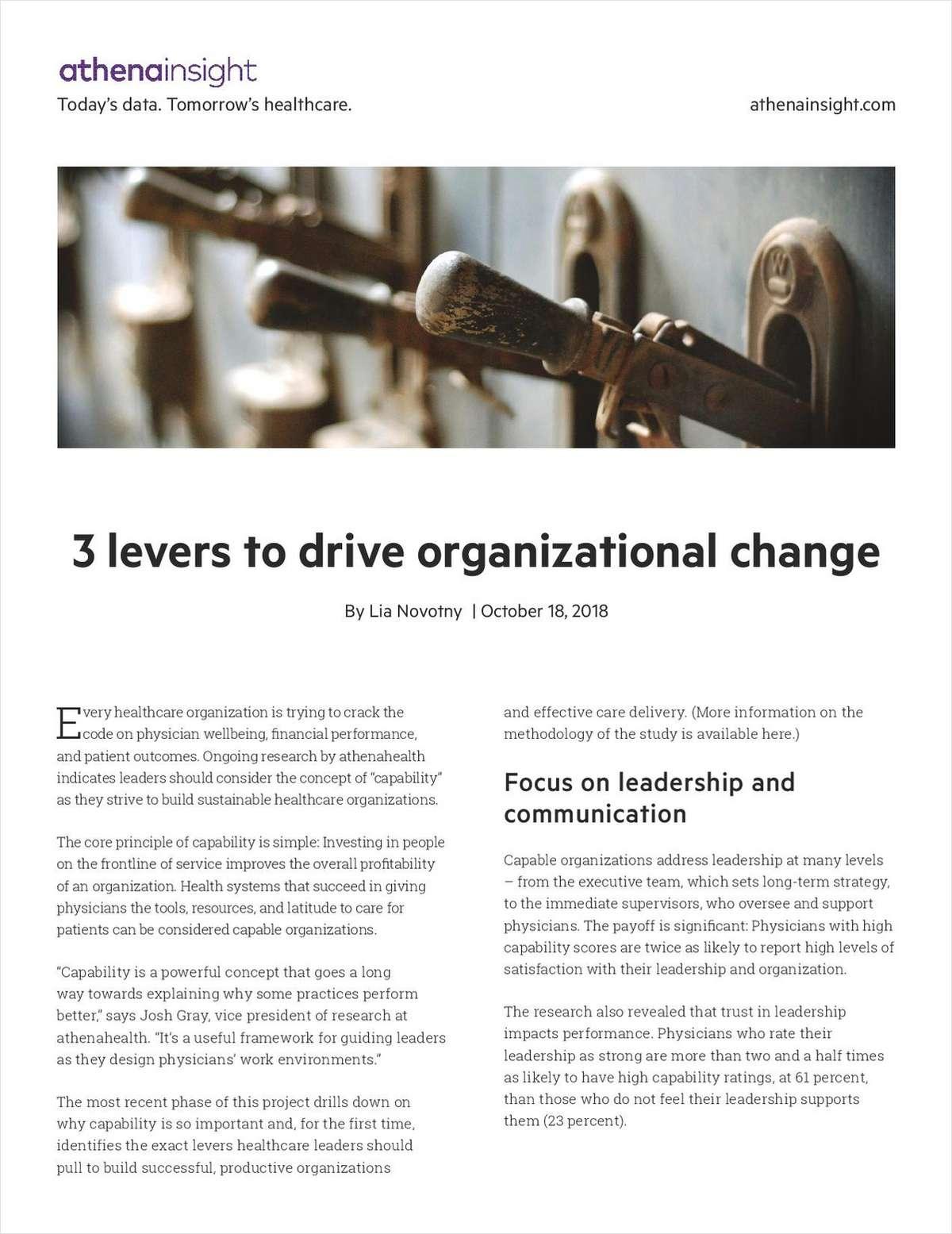 3 Levers to Drive Organizational Change