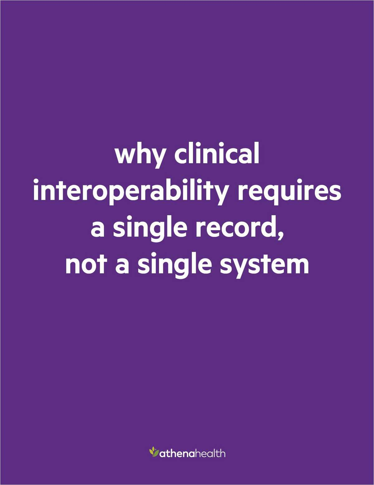 Whitepaper: Interoperability and universal patient records