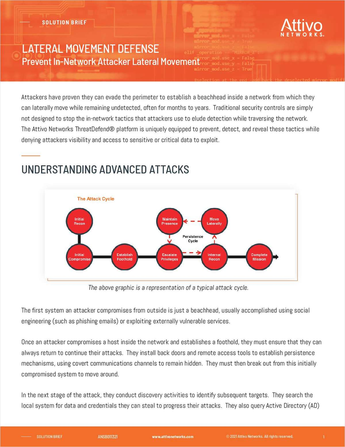 Prevent and Detect In-Network Attacker Lateral Movement