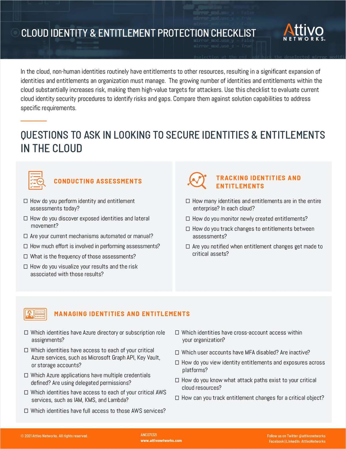 Evaluating Your Cloud Identity & Entitlement Security Procedures to Identify Risks and Gaps