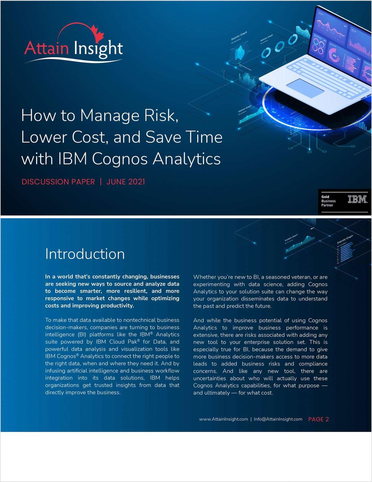 How to Manage Risk, Lower Cost, and Save Time with IBM Cognos Analytics