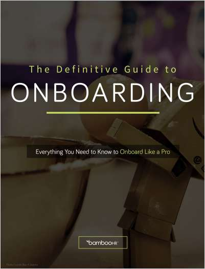 The Definitive Guide to Onboarding