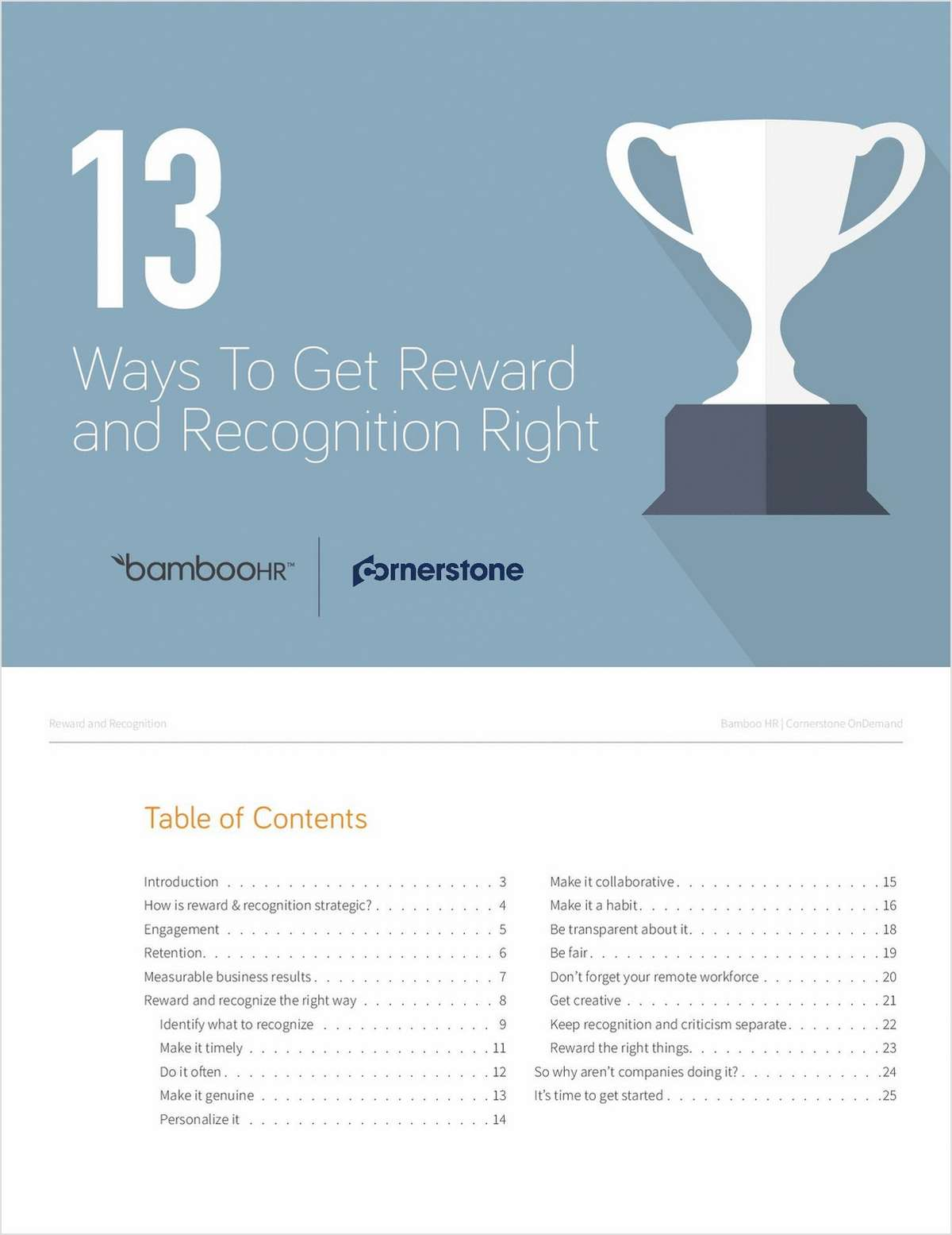 13 Ways to Get Reward and Recognition Right