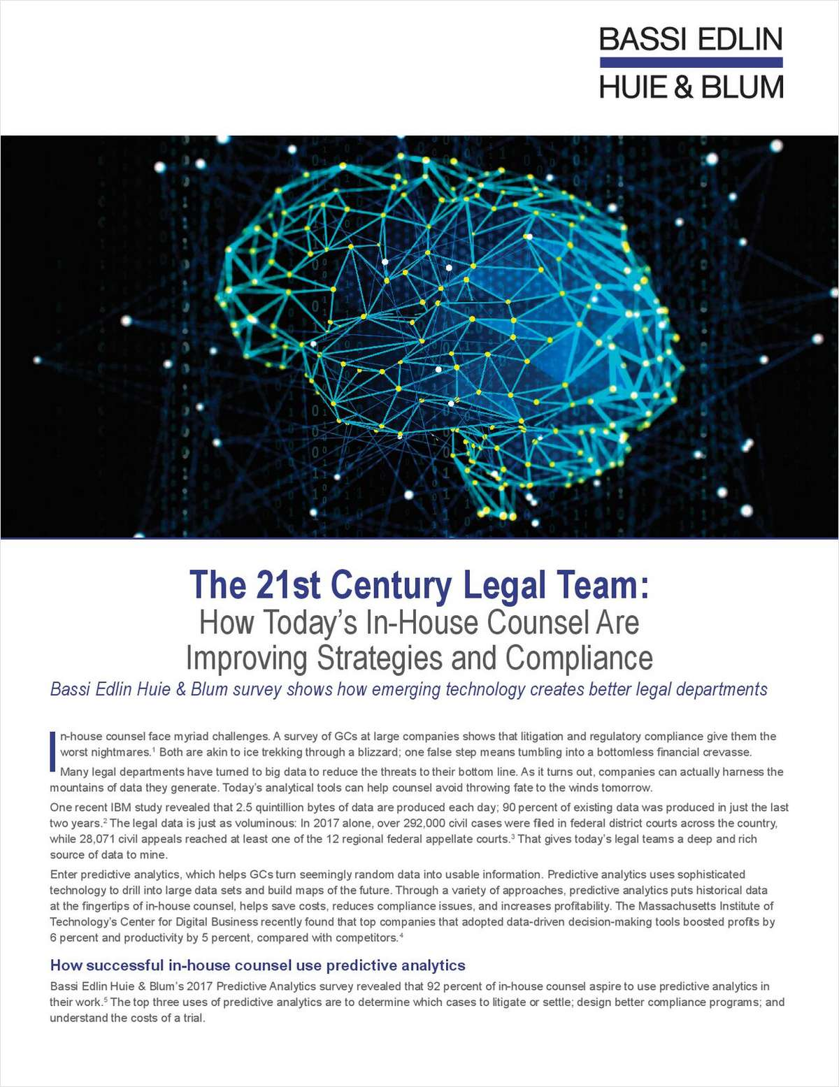 How Today's In-House Counsel Are Improving Strategies and Compliance