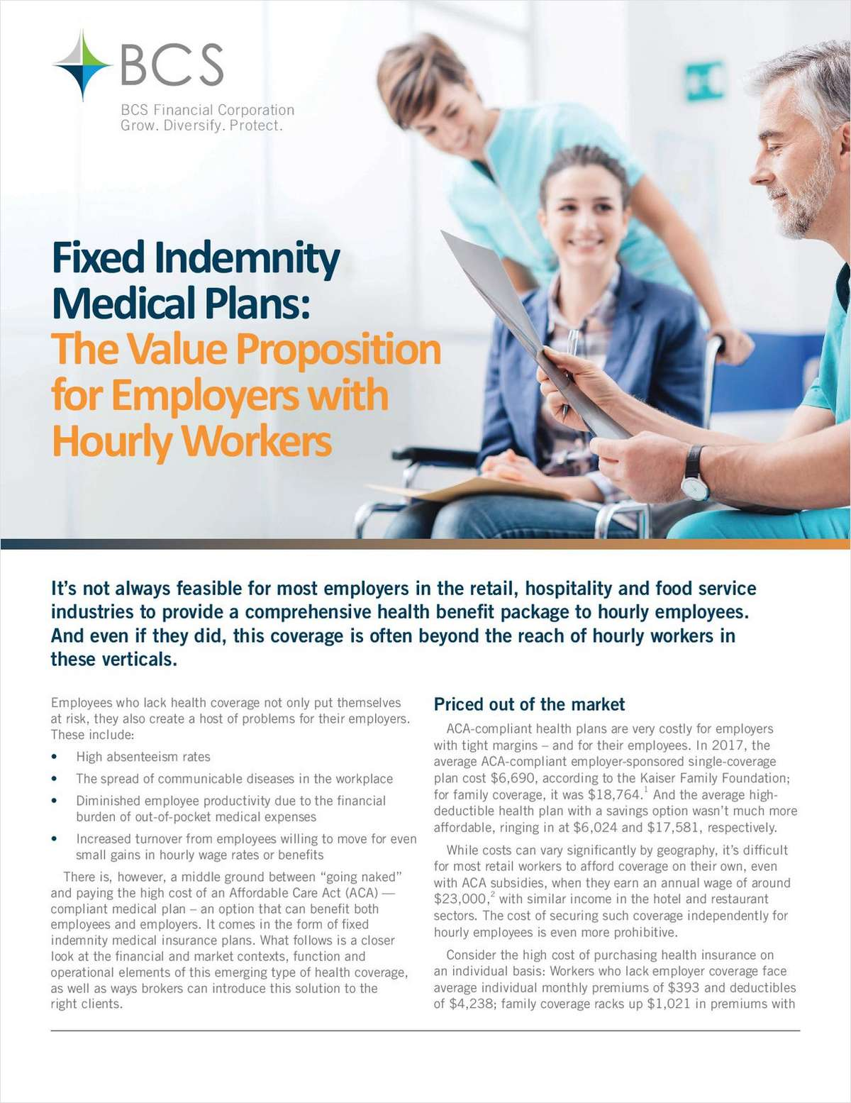 Fixed Indemnity Medical Plans: How to Cover Hourly Workers