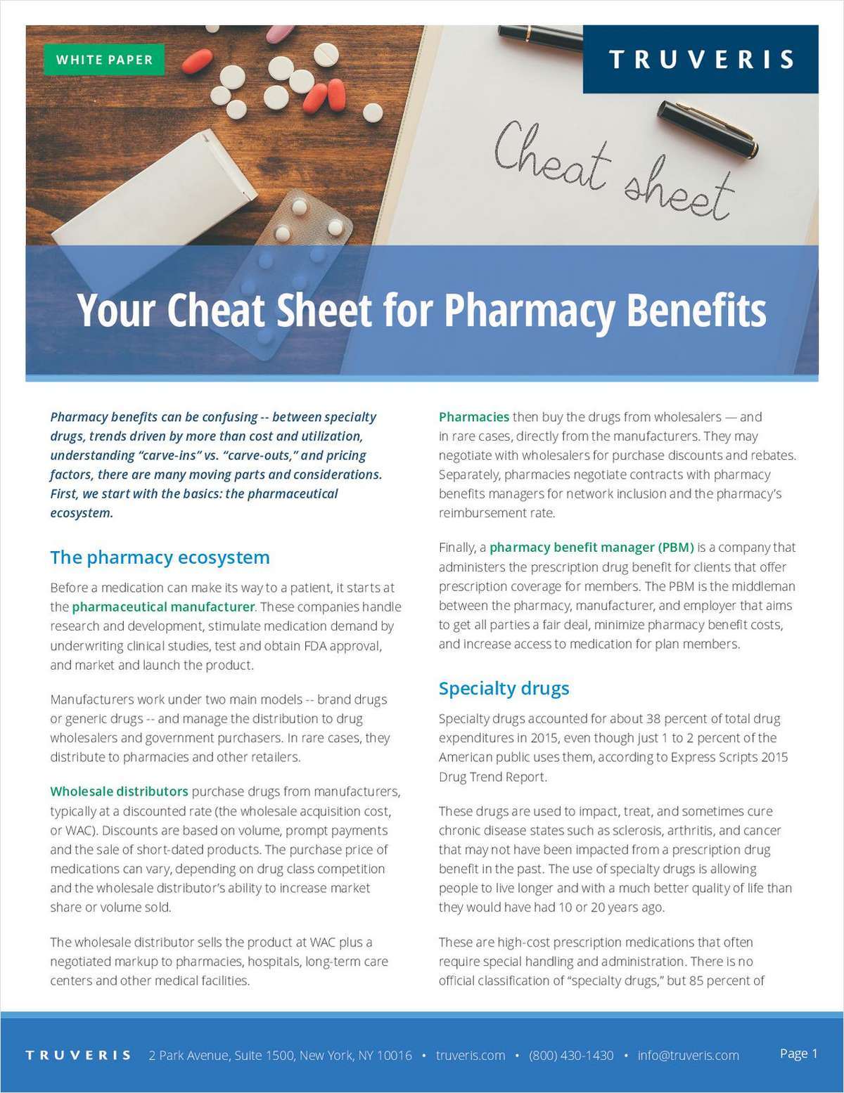 Your Cheat Sheet for Pharmacy Benefits