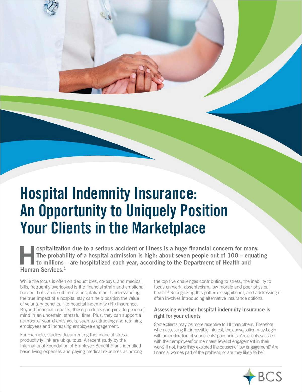 Hospital Indemnity Insurance: An Opportunity to Uniquely Position Your Clients in the Marketplace