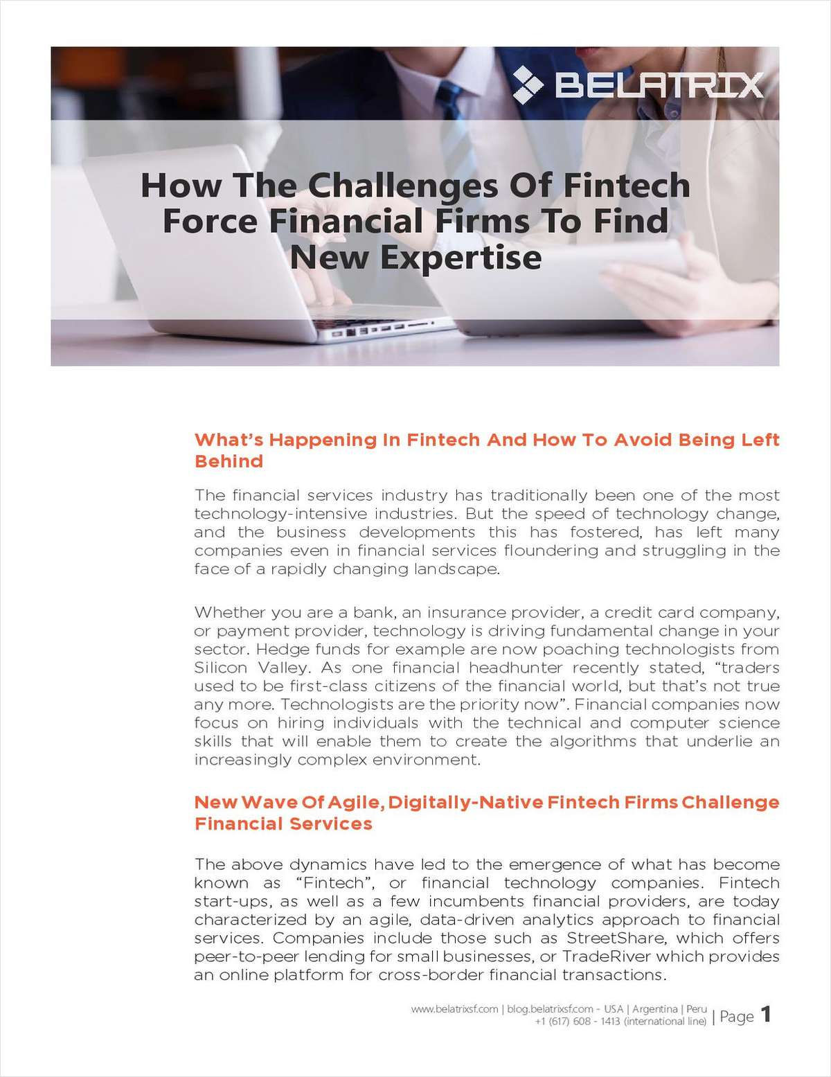 How the Challenges of Fintech Force Financial Firms to Find New Expertise