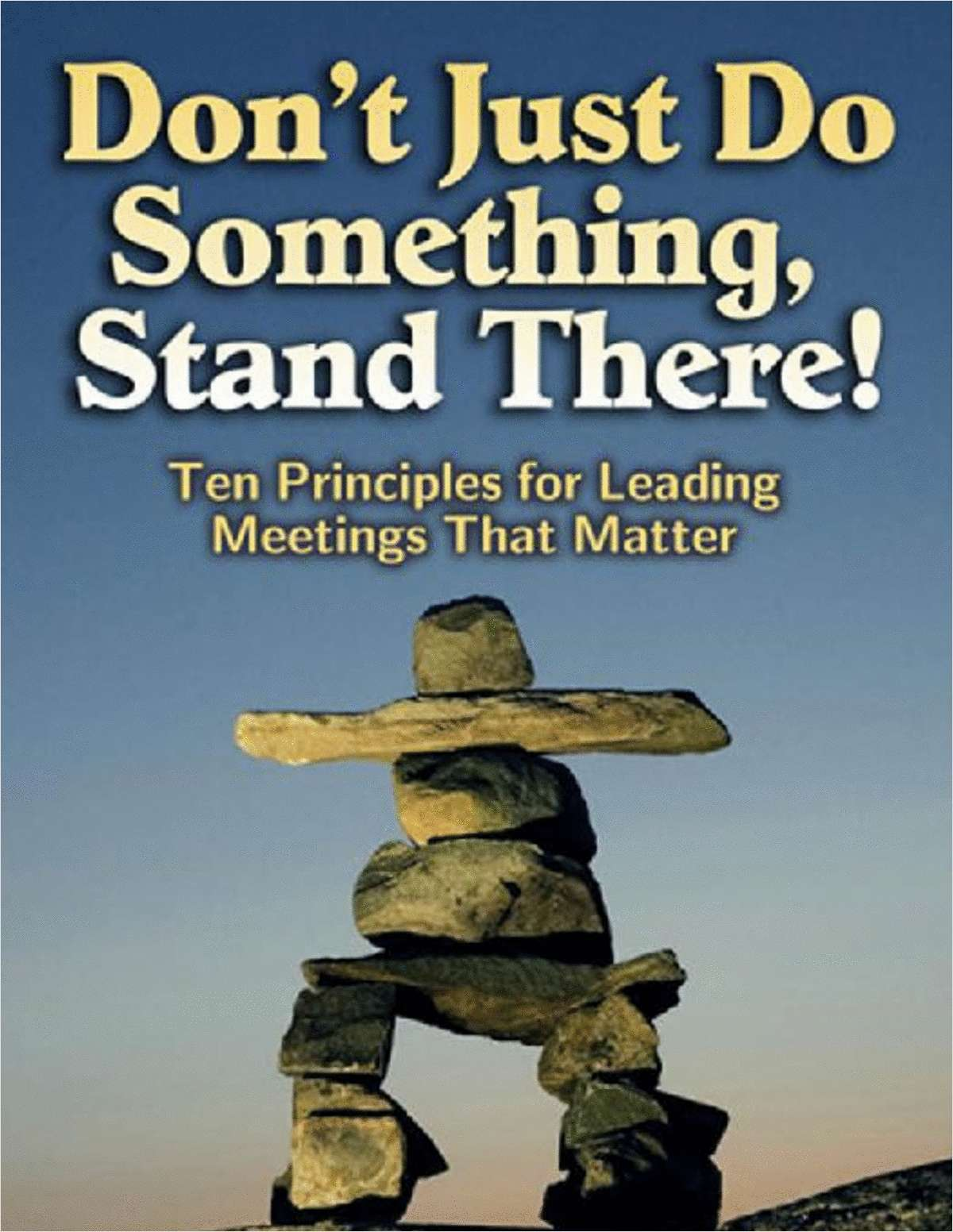 Don't Just Do Something, Stand There! -- An 85 Page Excerpt