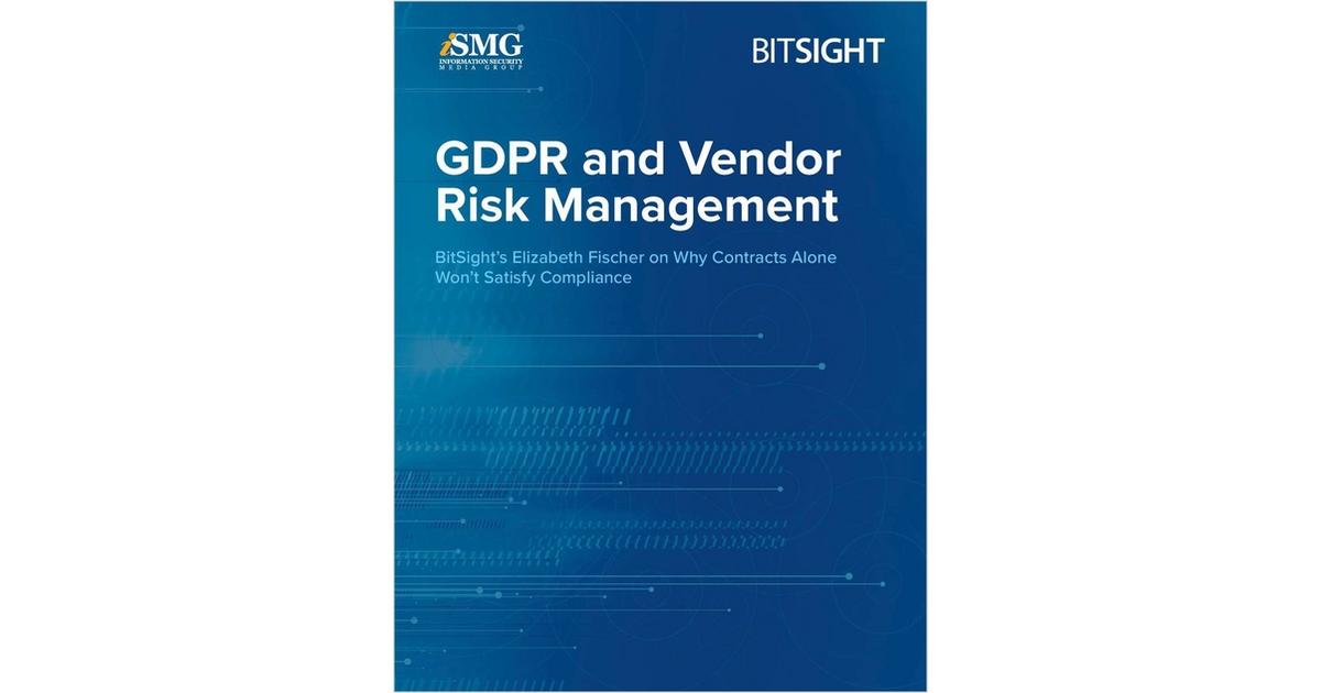 Gdpr And Vendor Risk Management Free Bitsight