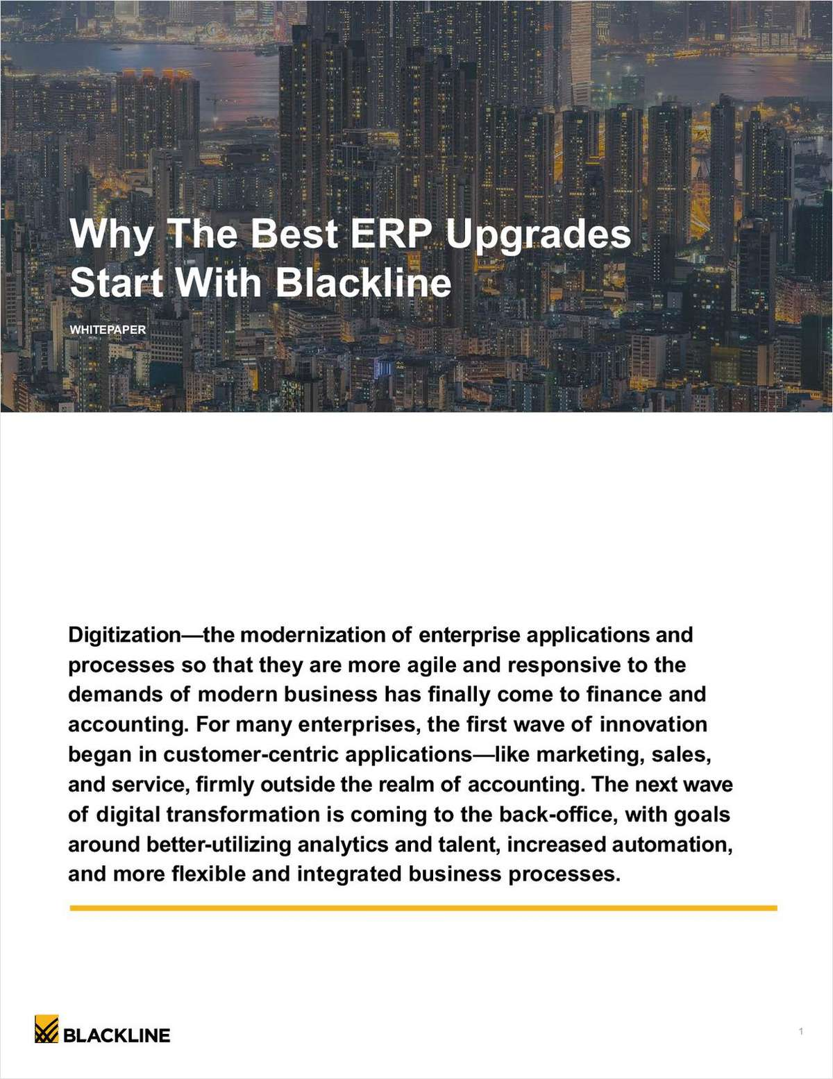 Why The Best ERP Upgrades Start with BlackLine