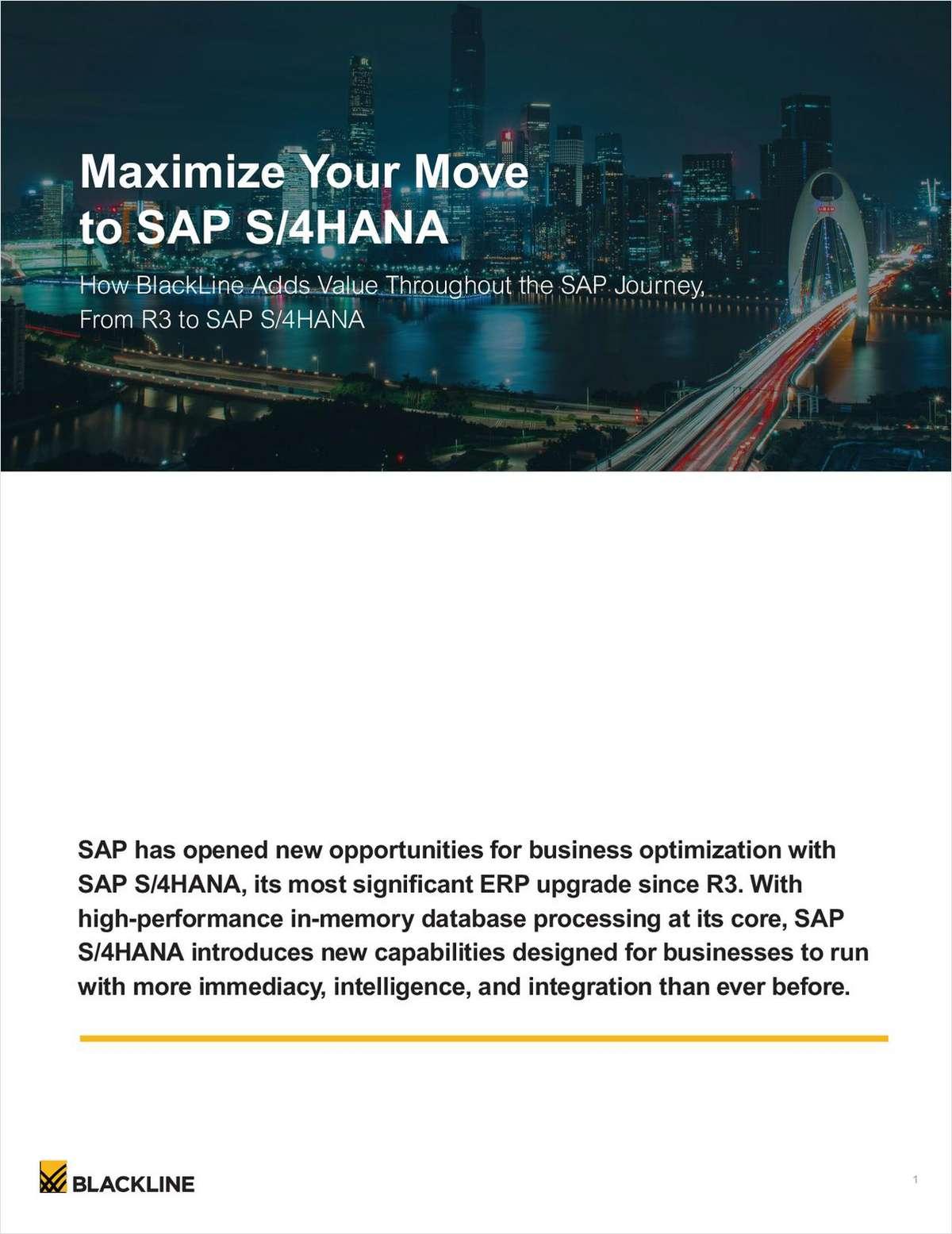 Maximize your Move to SAP S/4HANA