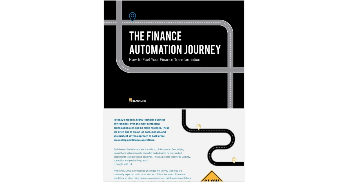 The Finance Automation Journey Free Blackline Systems