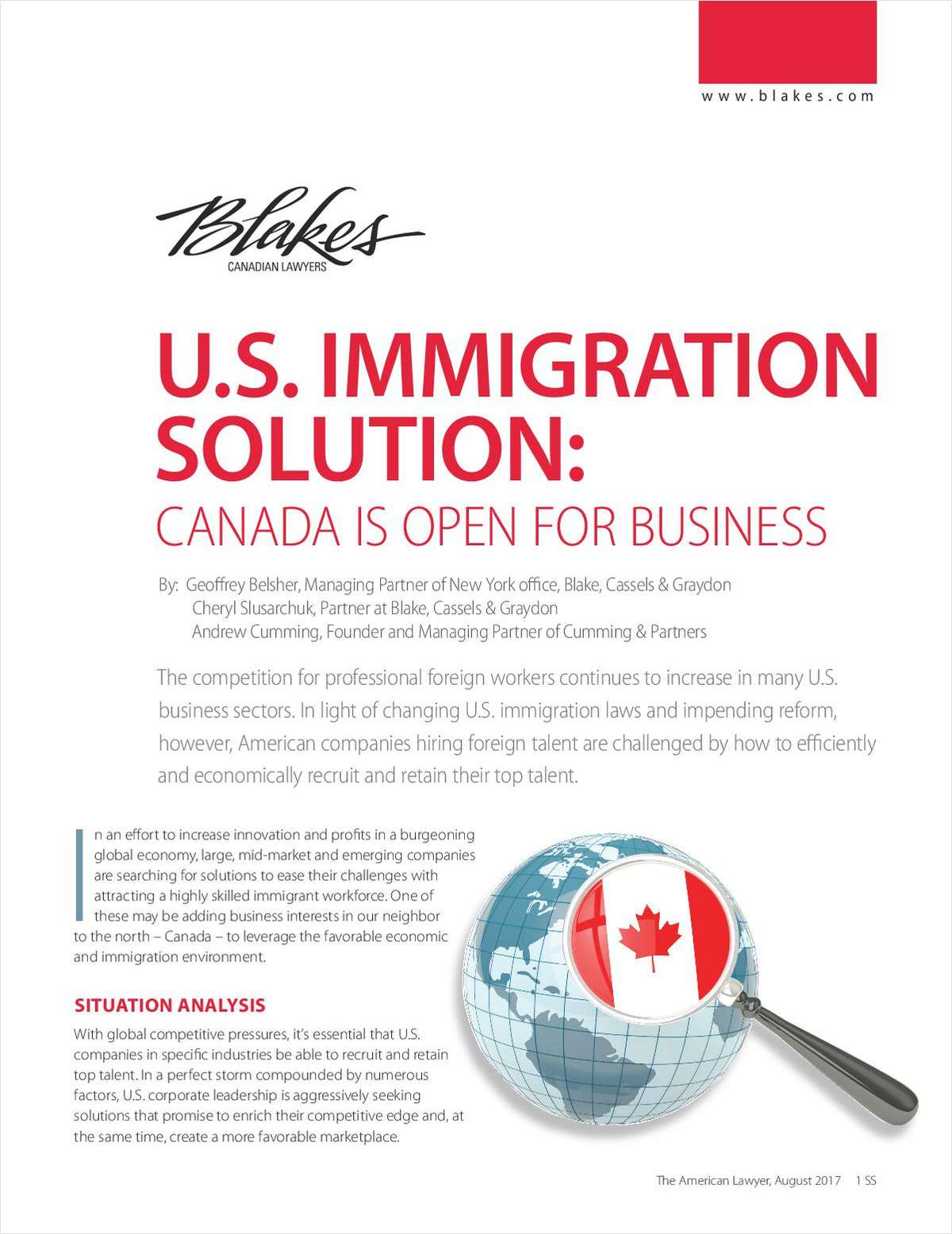 U.S. Immigration Solution: Canada is Open for Business