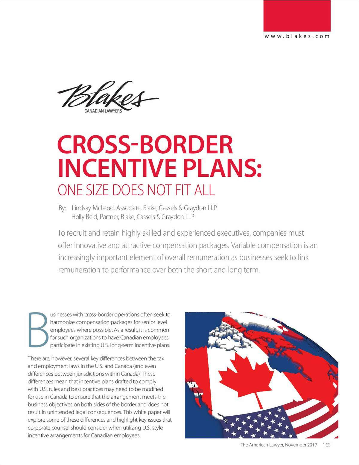 Cross-Border Incentive Plans: One Size Does Not Fit All