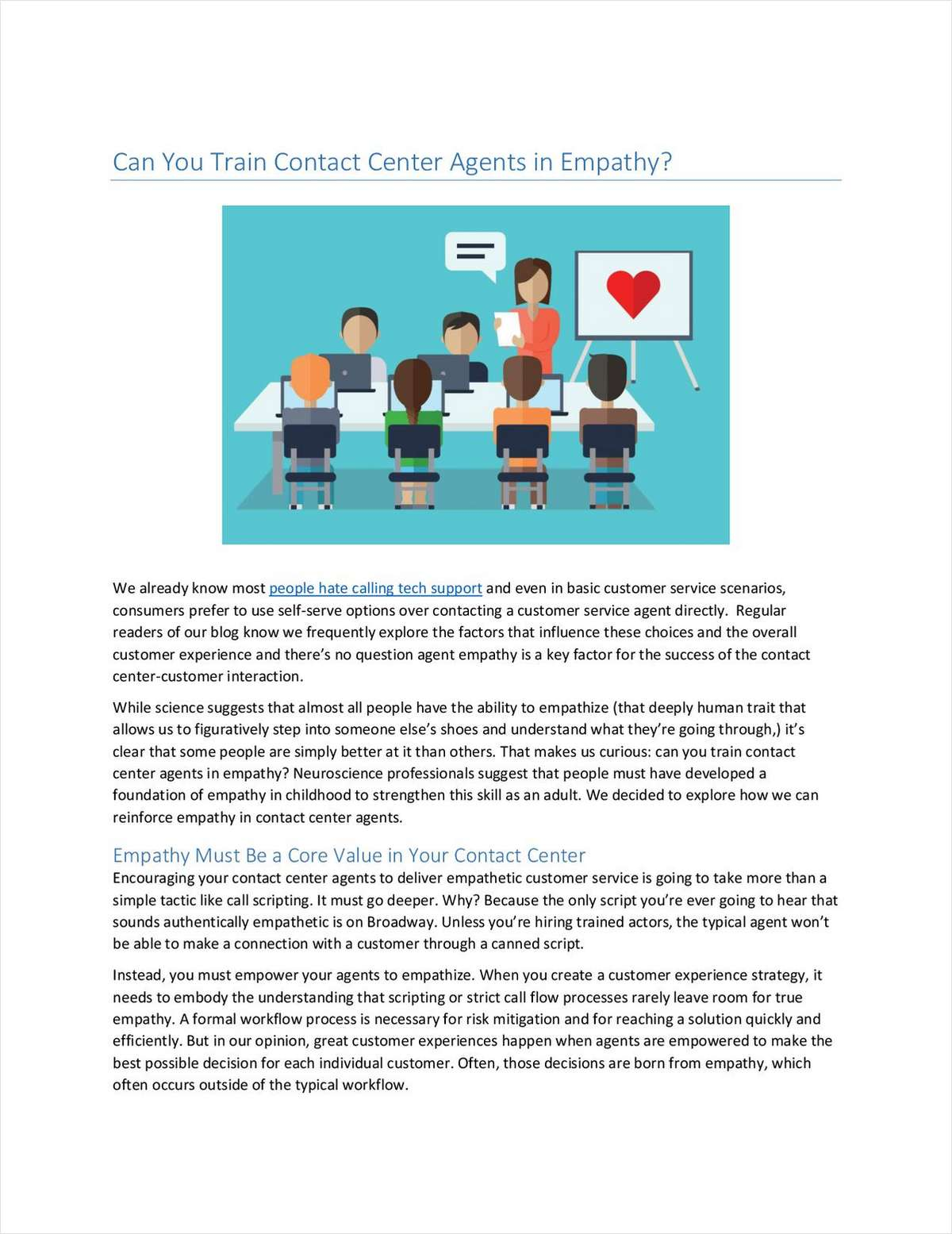 Can You Train Contact Center Agents in Empathy?