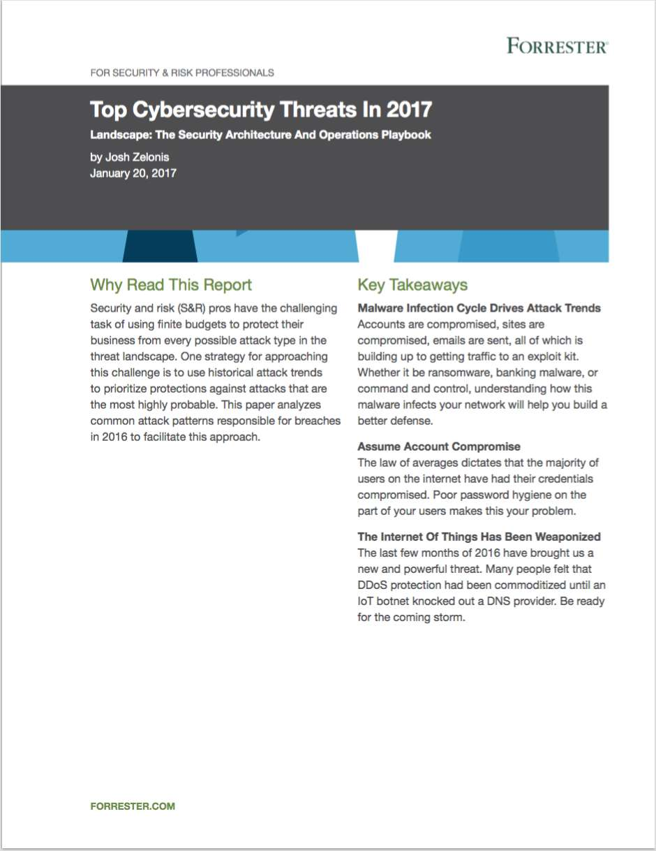 Top Cybersecurity Threats in 2017