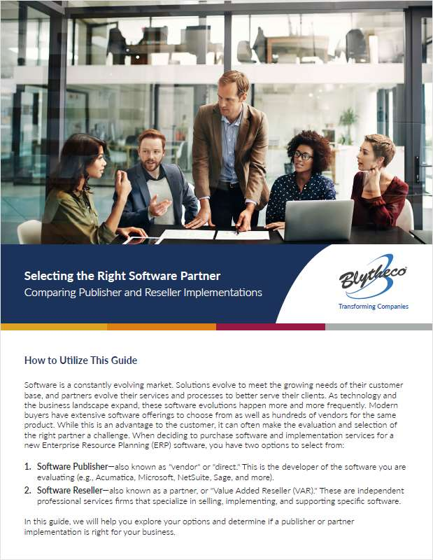 Selecting the Right Software Partner