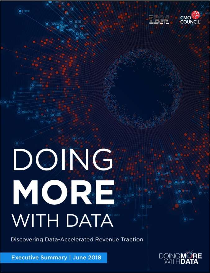 Doing More With Data - Discovering Data-Accelerated Revenue Traction
