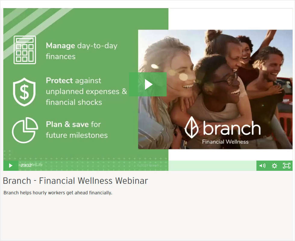 Financial Wellness Webinar: What It Means for Today's Hourly Workers