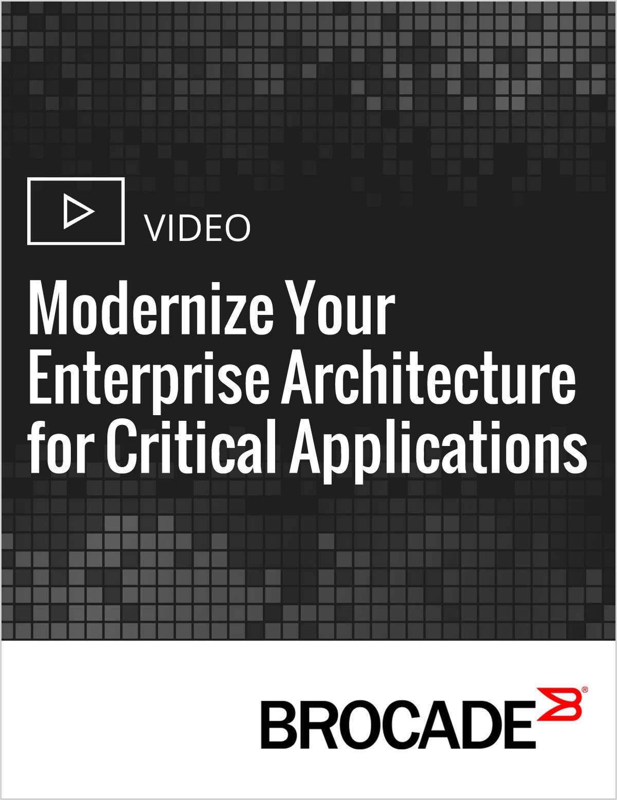 Modernize Your Enterprise Architecture for Critical Applications