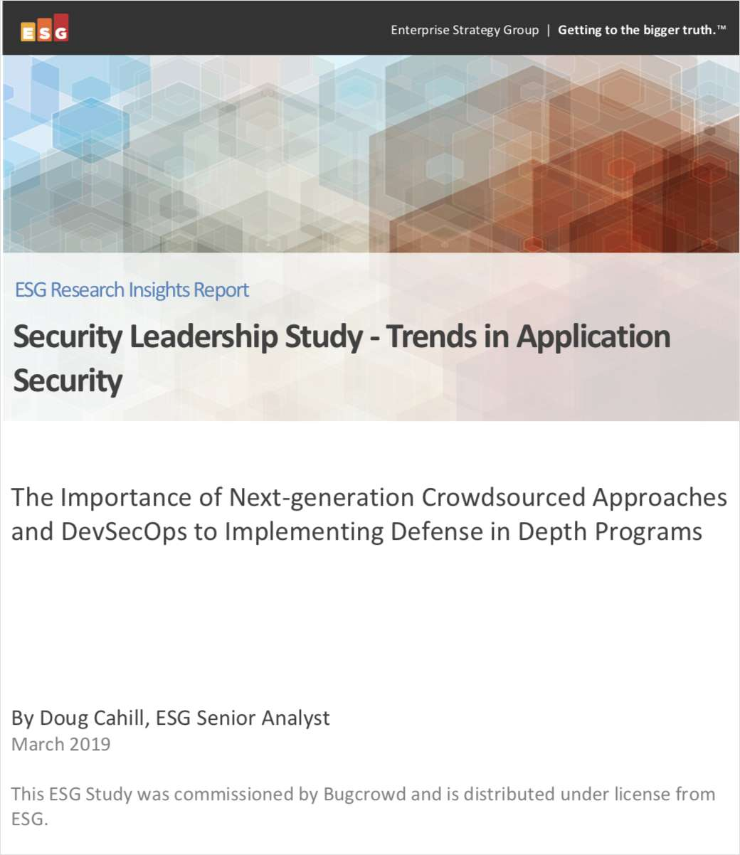 Security Leadership Study - Trends in Application Security