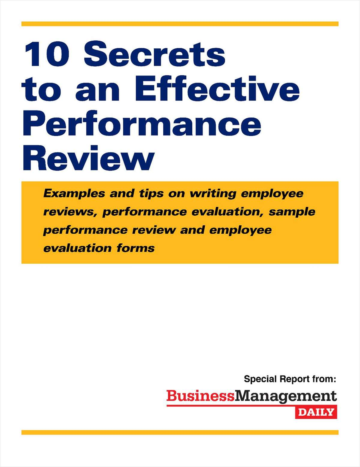 10 Secrets to an Effective Performance Review: Examples and Tips