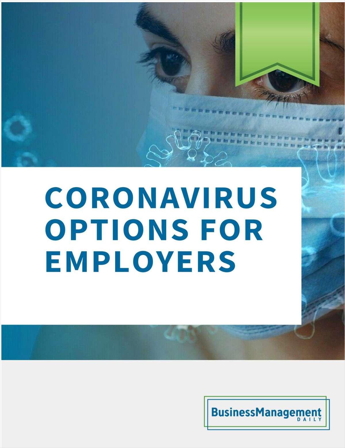 Coronavirus Options for Employers