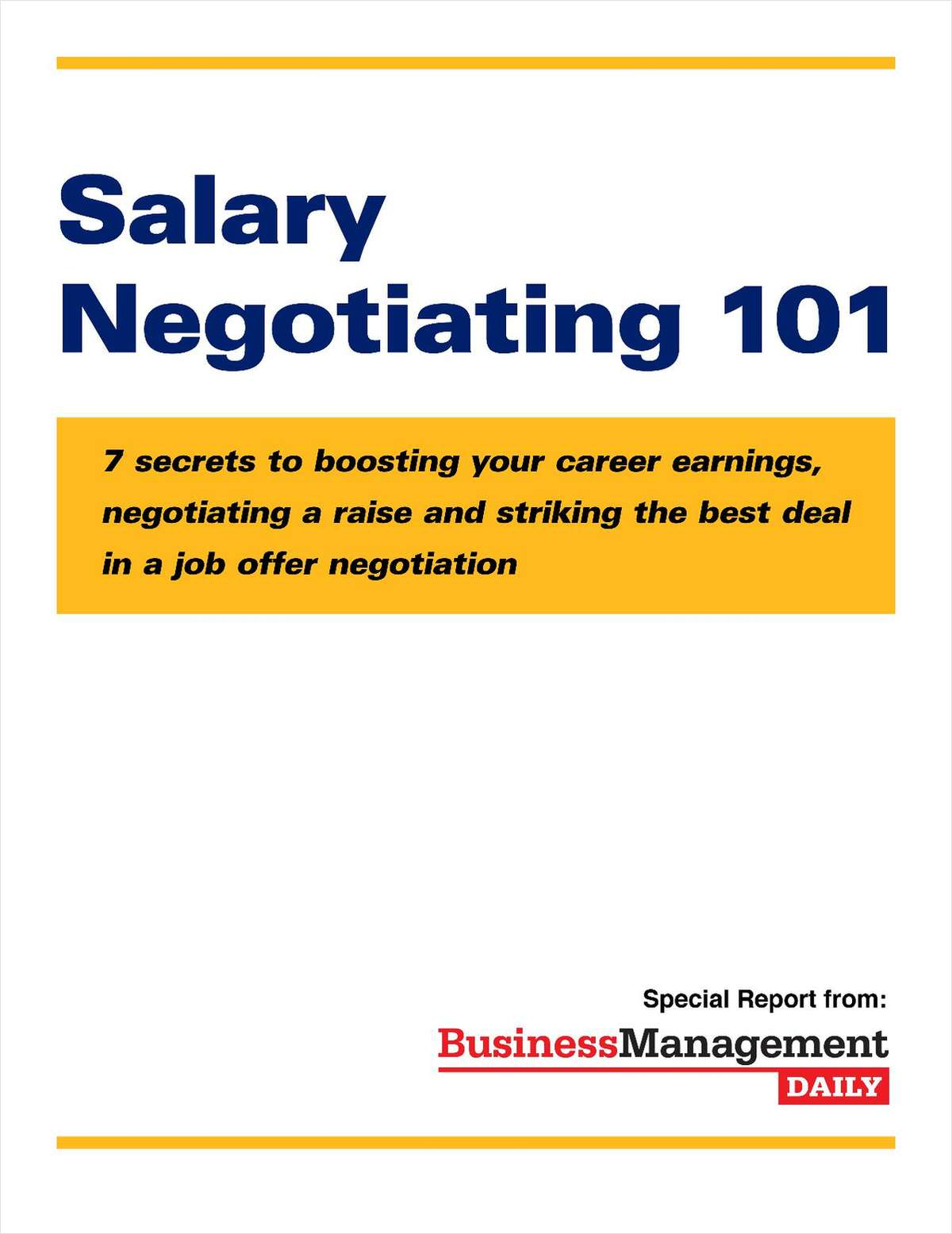Salary Negotiating 101