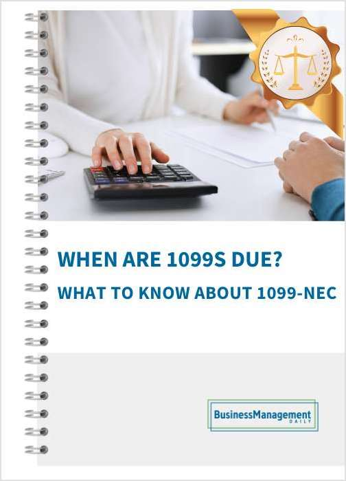 When Are 1099s Due?
