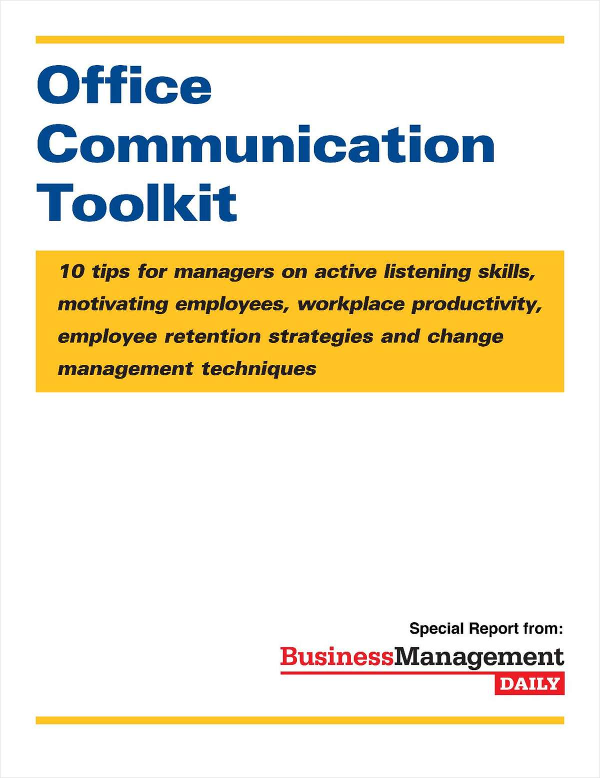 The Office Communication Toolkit: 10 Tips for Managers
