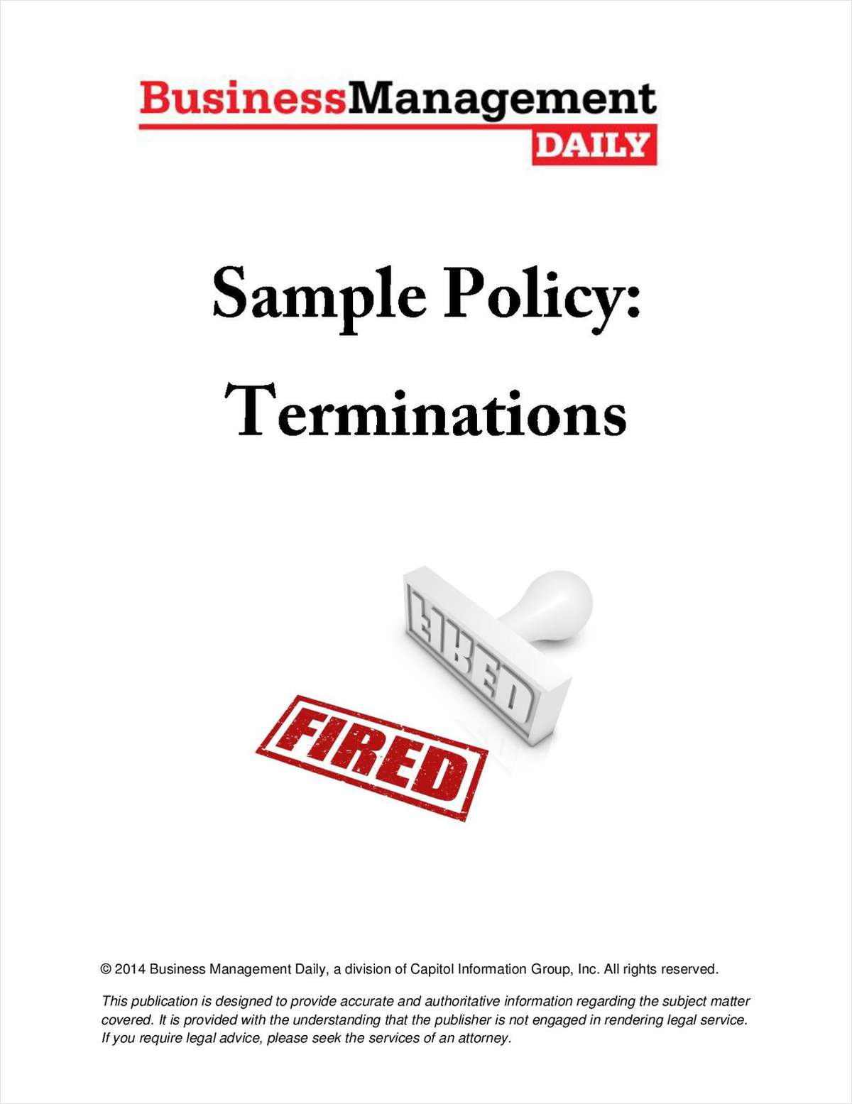 Sample Policy for Terminations