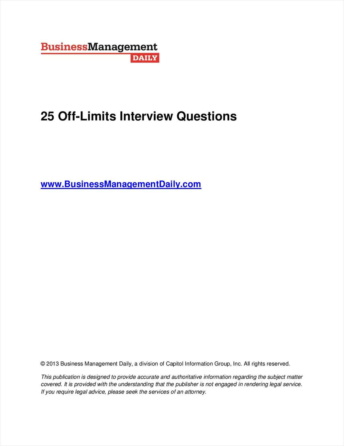 25 Off-Limits Interview Questions