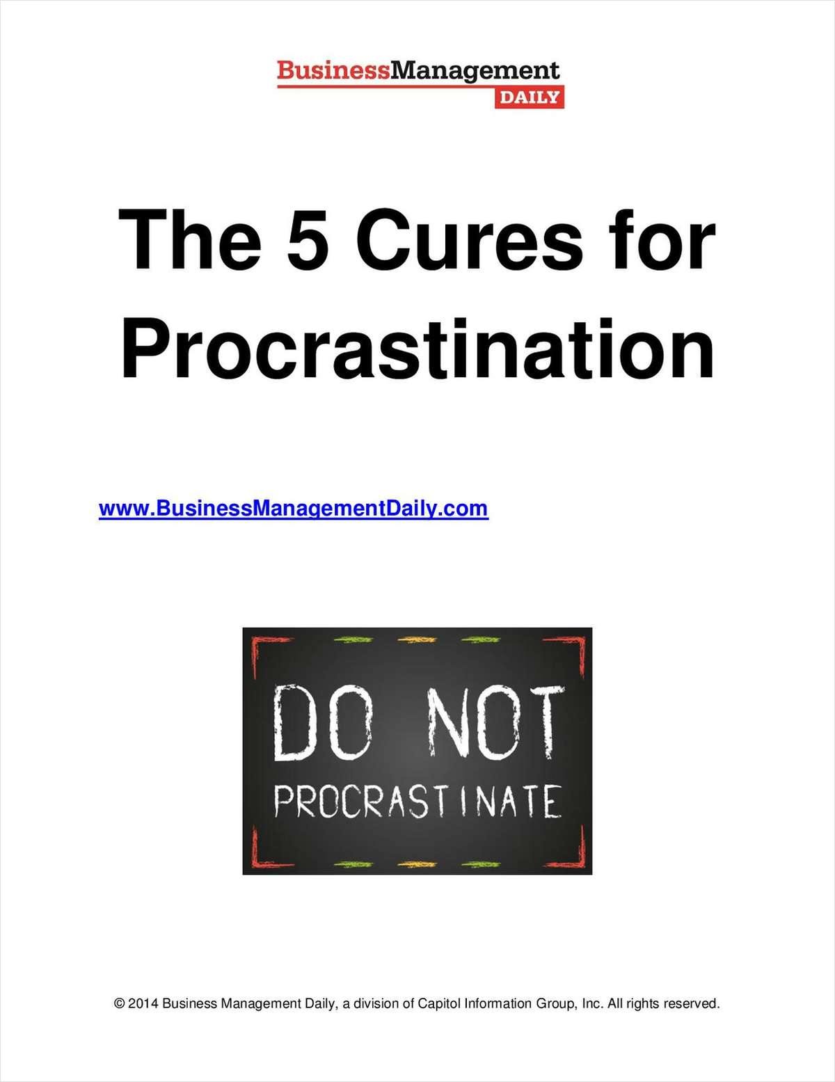 The 5 Cures for Procrastination