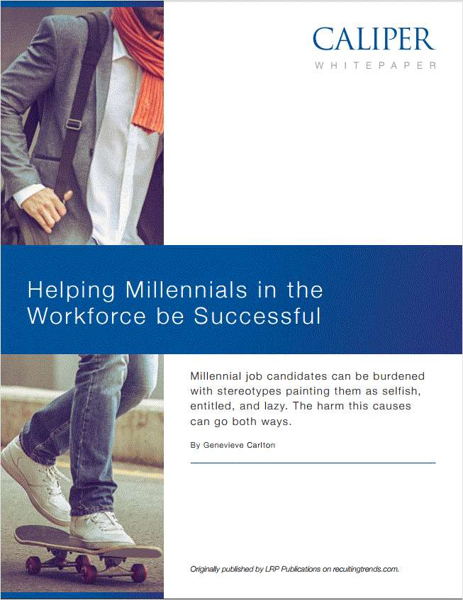 Helping Millennials in the Workforce be Successful.