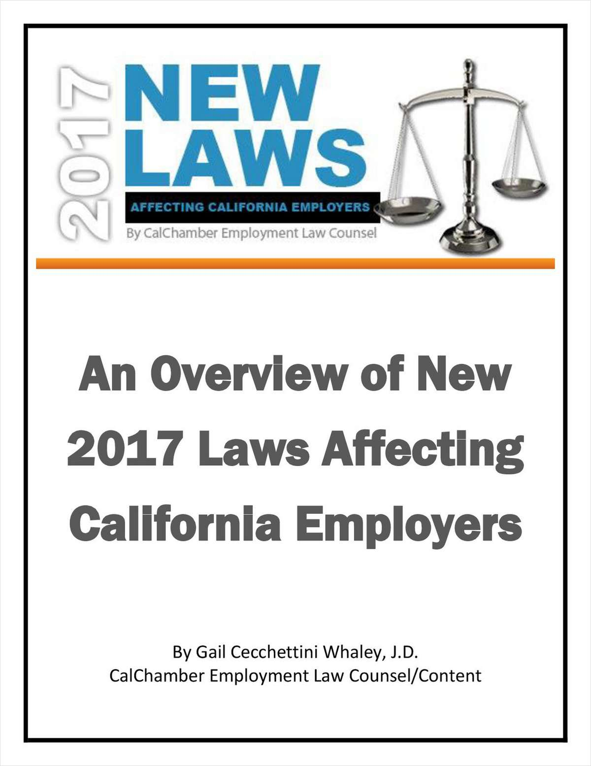 New 2017 Laws Affecting California Employers