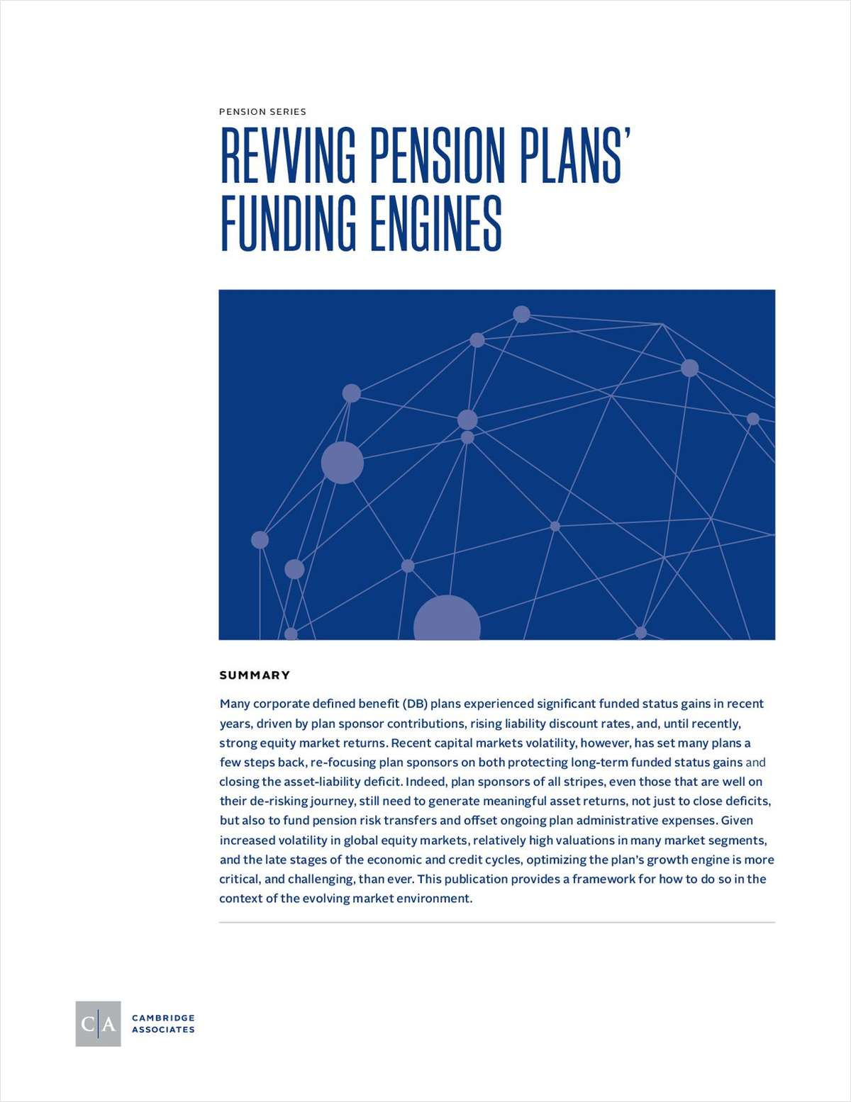 Reviving Pension Plans' Funding Engines