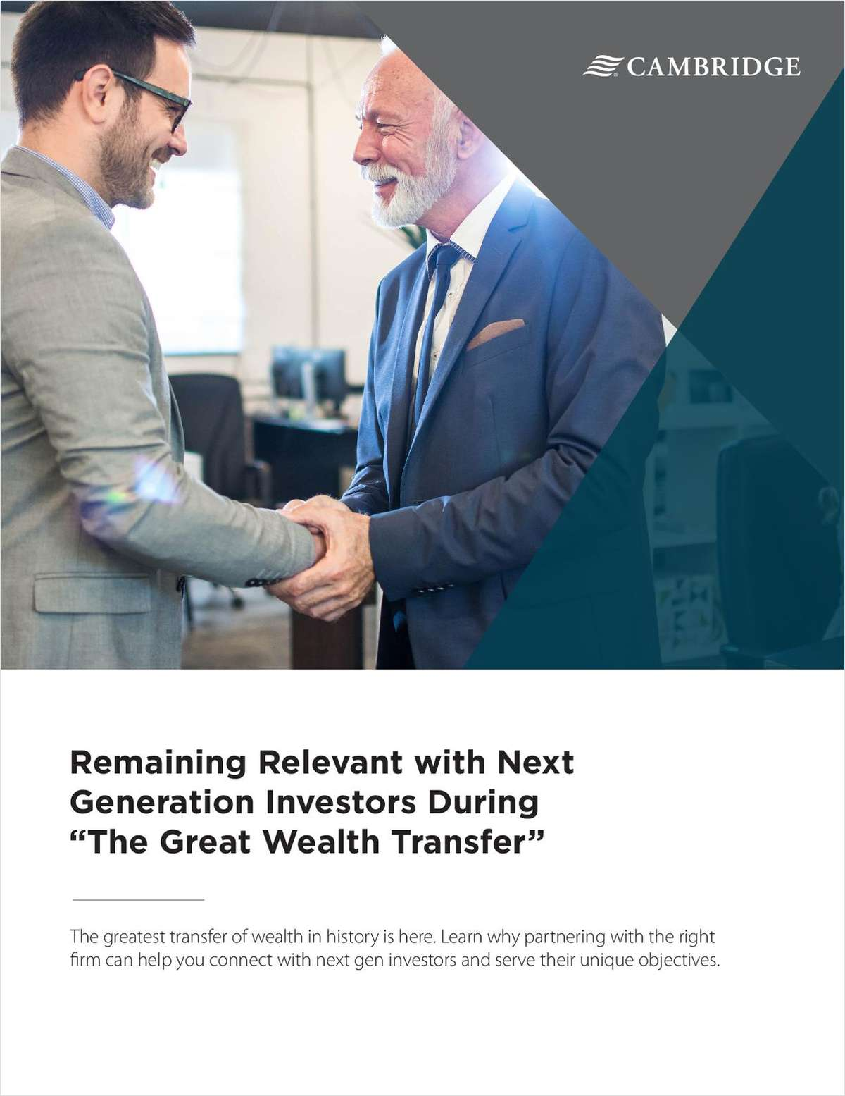 Remaining Relevant with Next Generation Investors During 'The Great Wealth Transfer'
