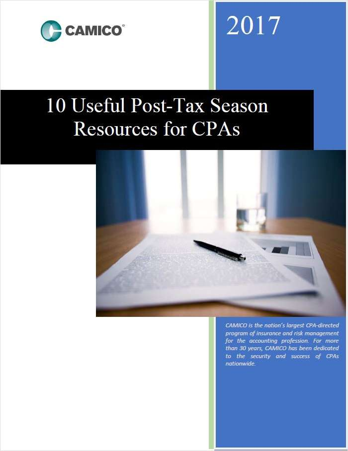 10 Useful Post Tax Season Resources for CPAs