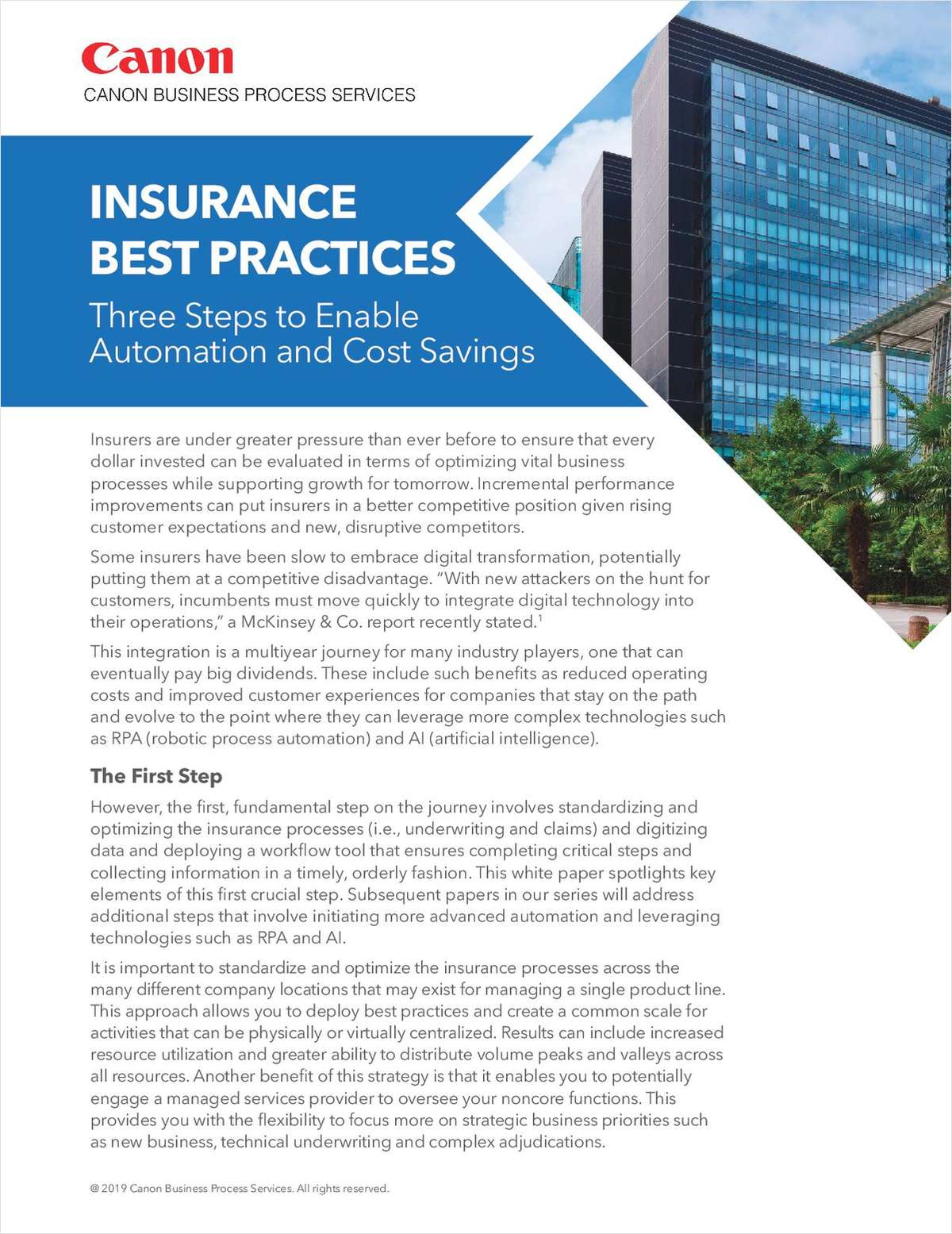 Insurance Best Practices: Three Steps to Enable Automation and Cost Savings