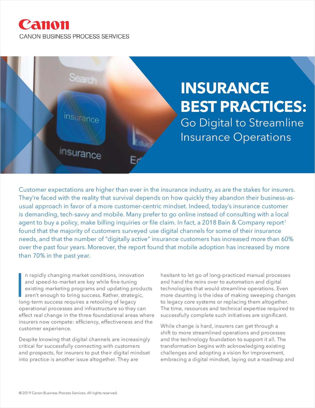 Insurance Best Practices: Go Digital to Streamline Insurance Operations