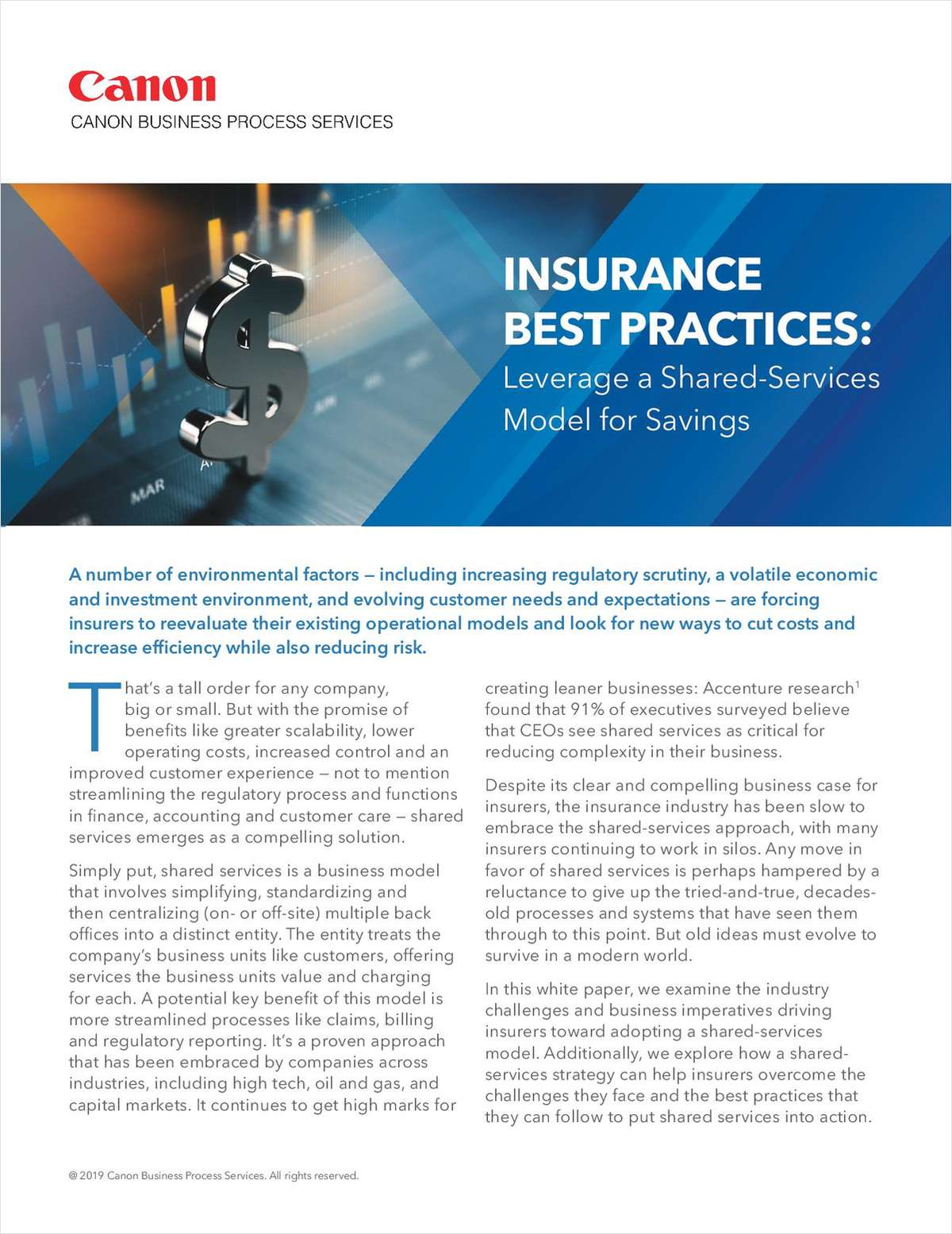 Insurance Best Practices: Leverage a Shared-Services Model for Savings