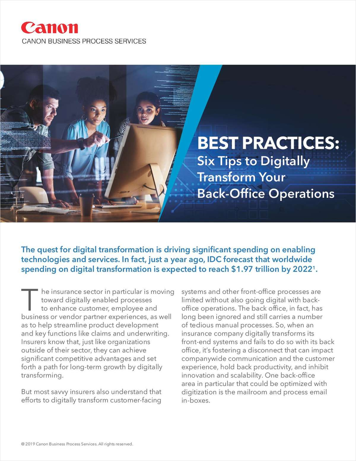 Best Practices: Six Tips to Digitally Transform Your Back-Office Operations