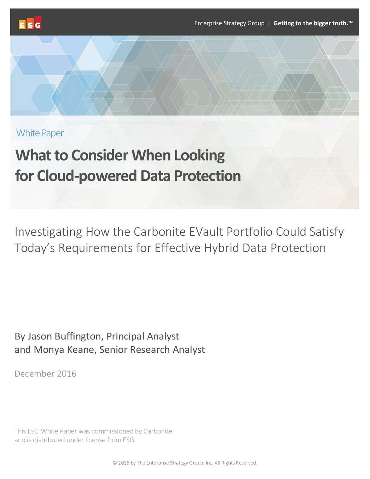 What to Consider When Looking  for Cloud-powered Data Protection