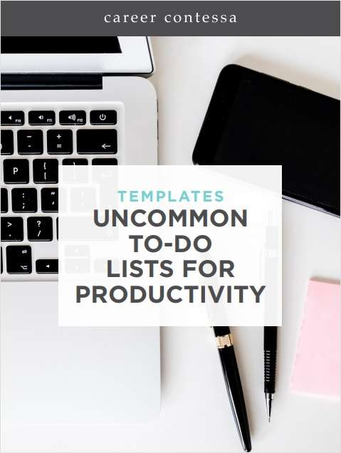 Uncommon To-Do Lists for Productivity